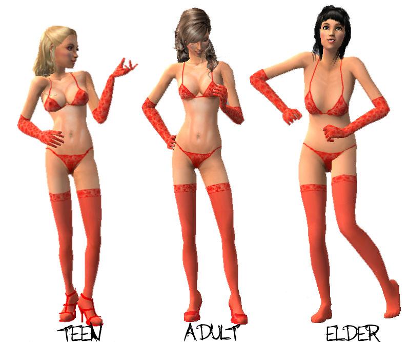 Эротический контент - Эротическая одежда для Sims 3.